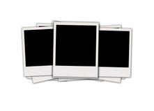 Três Polaroids em branco Fotografia de Stock
