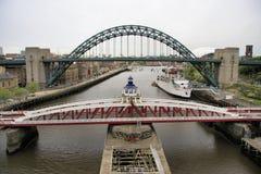 Três pontes de Tyne Foto de Stock