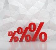 Três por cento vermelhos Fotografia de Stock Royalty Free