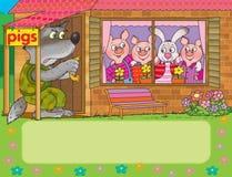 Três porcos Fotos de Stock Royalty Free