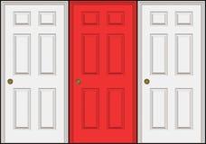 Três portas ilustração royalty free
