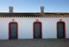 Três portas Fotografia de Stock