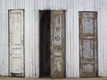 Três portas de madeira velhas Fotografia de Stock Royalty Free