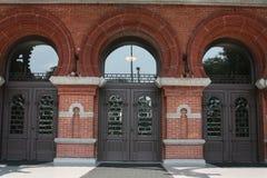Três portas na planta Salão Fotografia de Stock