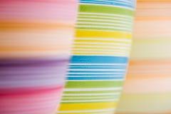 Três potenciômetros de flor coloridos Fotos de Stock Royalty Free