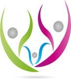 Três povos, povos, família, logotipo ilustração royalty free