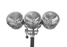 Três projectores do cromo isolados. Imagens de Stock Royalty Free