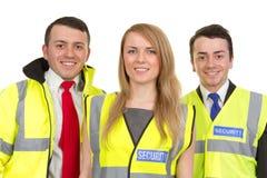 Três protetores de segurança Fotografia de Stock