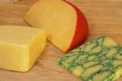Três queijos 2 fotografia de stock royalty free