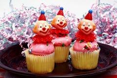 Três queques da baunilha Fotografia de Stock