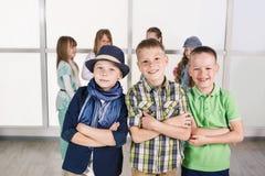 Três rapazes pequenos Foto de Stock