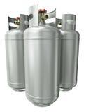 Três recipientes do gás ilustração stock