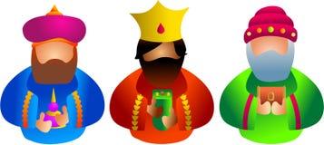 Três reis Imagens de Stock Royalty Free