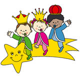 Três reis Foto de Stock Royalty Free