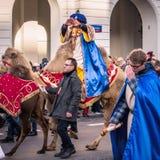 Três reis Dia 2018 Foto de Stock Royalty Free