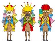 Três reis em camelos Imagem de Stock