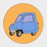 Três rodaram o automóvel ilustração do vetor