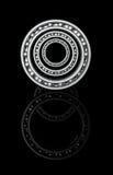 Três rolamentos de esferas em uma linha central ótica Imagens de Stock