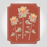 Três rosas ilustração royalty free