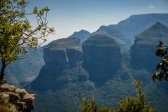Três Roundavels Mpumalanga Garganta do rio de Blyde Imagem de Stock Royalty Free