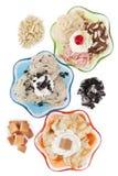 Três sabores assorted do gelado Imagem de Stock