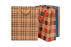Três sacos de compra Fotos de Stock
