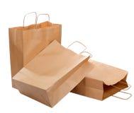Três sacos de papel ecológicos Imagem de Stock Royalty Free