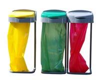 Três sacos de recicl Fotografia de Stock Royalty Free