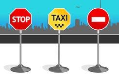 Três sinais de estrada Imagem de Stock