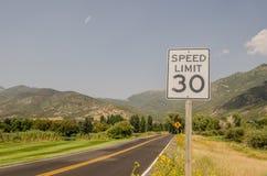 Três sinais de estrada Fotos de Stock