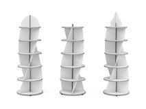 Três suportes com elementos curvados Fotografia de Stock