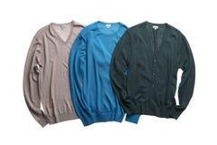 Três sweters diferentes da cor Fotografia de Stock Royalty Free