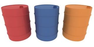 Três tambores Imagens de Stock