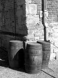 Três tambores de cerveja velhos Imagens de Stock