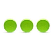 Três tampões plásticos Imagem de Stock Royalty Free