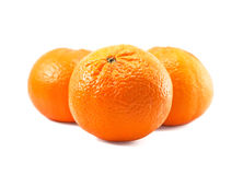 Três tangerines doces Imagem de Stock Royalty Free