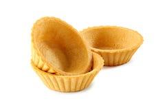 Três tartlets no branco Imagem de Stock Royalty Free