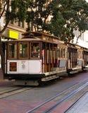 Três teleféricos de San Francisco no terminal da rua de Powell Imagem de Stock Royalty Free