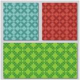 Três testes padrões de mosaico Fotografia de Stock Royalty Free