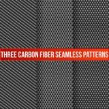 Três testes padrões sem emenda do carbono Foto de Stock
