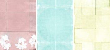 Três texturas encantadoras do fundo Imagem de Stock Royalty Free