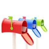 Três tipos de caixas postais lustrosas Foto de Stock Royalty Free