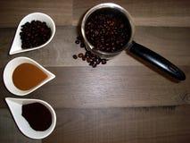 Três tipos do café Fotos de Stock Royalty Free