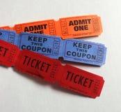 Três tipos dos bilhetes Foto de Stock