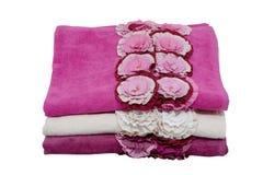 Três toalhas Fotografia de Stock