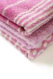 Toalhas cor-de-rosa Foto de Stock Royalty Free