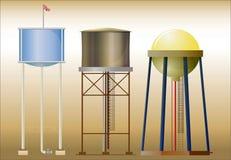 Três torres de água Foto de Stock