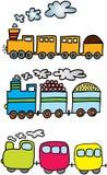 Três trens Fotos de Stock
