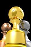 Três troféus (3D) Imagens de Stock Royalty Free
