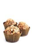 Três trufas de chocolate Foto de Stock Royalty Free